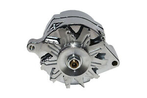 Chrome Sb Ford 1g Style 110 Amp 1 Wire Alternator Mustang 289 302 351 V8 10si V
