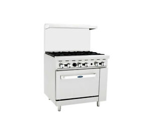 Atosa Ato 6b Commercial 6 Burner Gas Range W Oven