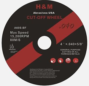 50pcs 4 Inch X 040 X 5 8 Cut off Wheel Stainless Steel Metal Cutting Disc
