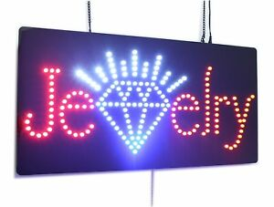 Jewelry Sign Super Bright Led Open Sign Store Sign Business Sign Windows