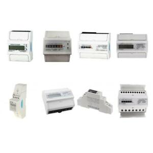 1 Phase 2 Wire 3 Phase 4 Wire Kwh Electricity Meter Wattmeter Din Rail Meter