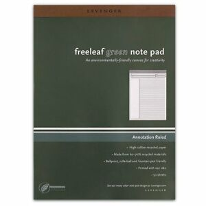 Levenger Freeleaf Recycled Annotation Ruled Pads Letter5 Ads5510