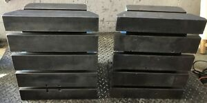 Qty 2 Devlieg 15 w X 18 h T slot Angle Plates Block Table Fixture Industrial