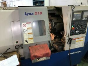 Used Daewoo Lynx 210 A Cnc Turning Center Lathe Fanuc Tailstock Chip Con 6 2004