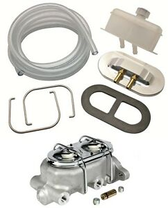 Aluminum Master Cylinder Remote Fill Reservoir Cap Kit Chevy Ford 1 1 8 Bore