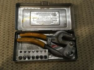 Punch Whitney jensen No 5 Jr Metal Hand Punch Set With Storage Case Usa