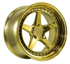Aodhan Ds05 18x9 5 15 18x10 5 22 5x114 3 Gold Chrome Is250 Mustang 350z Supra