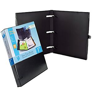 Unikeep 3 Ring Binder Black Case View Binder 1 0 Inch Spine With Clear