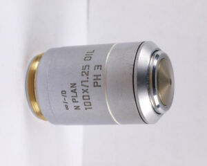 Leica N Plan 100x 1 25 Oil Ph3 Phase Contrast Infinity Microscope Objective