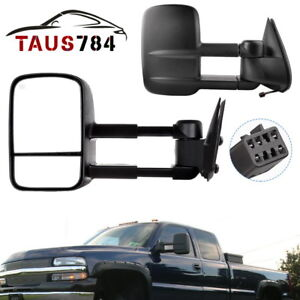 Right Left Side Power Tow Mirrors Heated For 99 02 Chevy Silverado 1500 2500 Hd