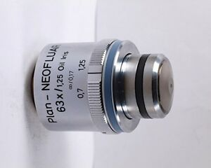 Zeiss Plan neofluar 63x 1 25 Oil Microscope Objective W Iris