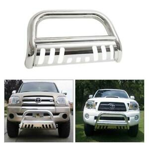 Fits 05 15 Toyota Tacoma Bull Bar Push Bumper Grill Grille Guard Chrome