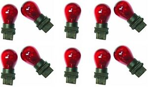 10x 3157 Red Bright Large Size Light Bulbs Car Tail Signal Turn Backup Stop Lamp
