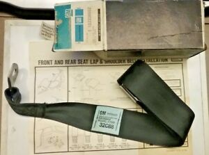 Nos 1988 91 Cavalier Z24 Gm 12330662 Black Seat Belt Box12