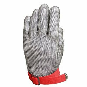 Resistant Glove Stainless Steel Mesh Knife Cut Resistant Protective Glove Large