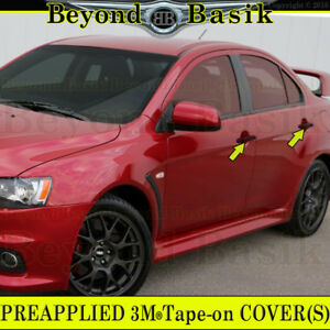 2008 2017 Mitsubishi Lancer Gloss Black Door Handle Covers Overlays No Smrtk