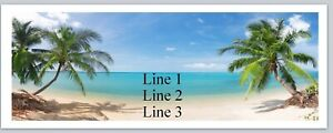Personalized Address Labels Beach Palm Trees Buy 3 Get 1 Free c 773