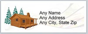 Personalized Address Labels Country Log Cabin Buy 3 Get 1 Free ac 648