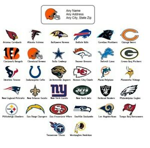 30 Personalized Return Address Labels Sports Football Buy 3 Get 1 Free sf1