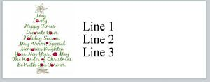Personalized Return Address Labels Christmas Buy 3 Get 1 Free ac 270