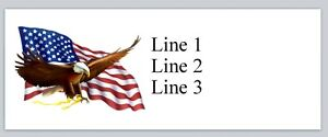 Personalized Return Address Labels Us Flag Buy 3 Get 1 Free a3