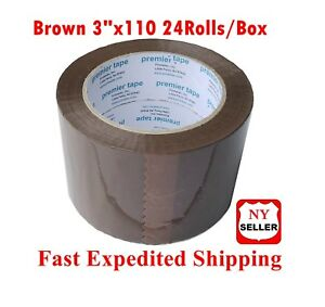 24 Rolls Tan Packing Sealing Tape 3 X 110 Yards Thick Brown Tape