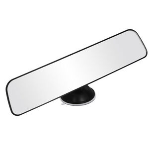 Panoramic Rear View Mirror Universal Wide Angle Suction Installation