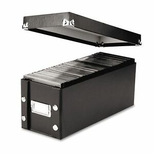 New Cd Dvd Storage Box With Lid And Label Holds 30 Standard 60 Slim Jewel Cases