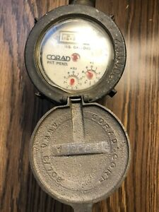 Vintage Corad Water Meter Us Gallons Very Nice Condition