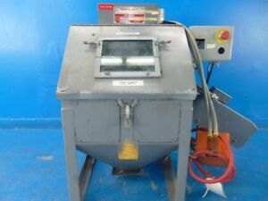Trinco 20 88 st Turn Table Blast Cabinet Modified W broken Glass