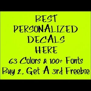 Personalized Name Text Lettering Vinyl Decal Sticker Custom Car Window Bumper Rv