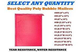 Hot Pink Poly Bubble Mailers Shipping Mailing Padded Bags Envelopes Self seal