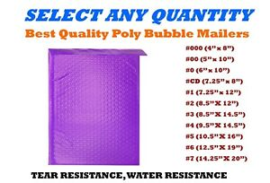 Purple Poly Bubble Mailers Shipping Mailing Padded Bags Envelopes Self seal
