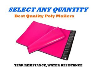 4x6 Hot Pink Poly Mailers Shipping Envelopes Self Sealing Mailing Bags 4 X 6