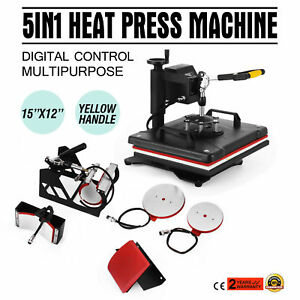15 x12 5in1 Combo T shirt Heat Press Transfer Machine Sublimation Swing Away Mx
