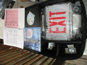 Emergi lite Single Face Red Exit Sign White new