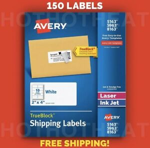150 Avery 5963 5163 8163 5263 95945 Address Mailing Shipping Labels 2 X 4