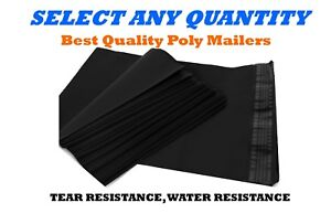 19x24 Black Poly Mailers Shipping Envelopes Self Sealing Mailing Bags 19 X 24