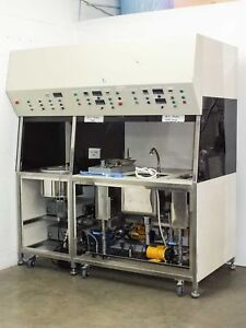 Disc Master Ultrasonic Cleaning Bench W Skyey And Generator Flow Hood 440v