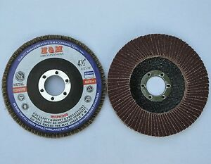 50 Flap Discs 4 5 x7 8 A o 80 Grit Sanding Grinding Wheels For Angle Grinder
