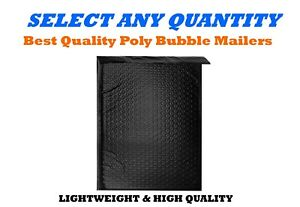 000 4x8 Black Poly Bubble Mailers Shipping Mailing Padded Envelopes 4 X 7