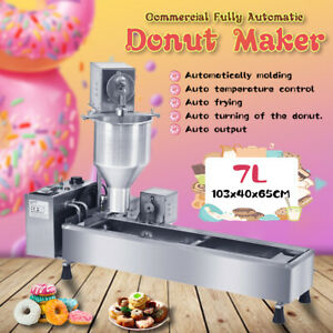 Commercial Automatic Donut Fryer Maker Machine Wide Oil Tank W 3 Sets