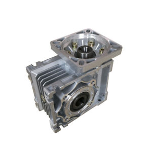 Nmrv40 Worm Gearbox Reduction Ratio 5 1 To 100 1 For Nema34 Stepping Motor