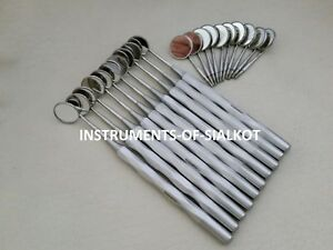30 Pc Dental Mouth Mirror With Handles Cone Socket Dentist Equipment Instruments