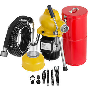 Sectional Drain Cleaning Machine 400w Pipe Drain Cleaner 20mx16mm 5mx10mm Cable