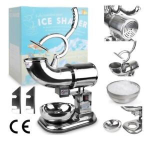 Wyzworks Commercial Heavy Duty Ice Shaver Extra Blades Shaved Ice Maker Machine