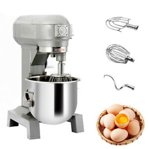 15qt 580w Commercial Dough Food Mixer Gear Driven Bakery Blender Three Speed