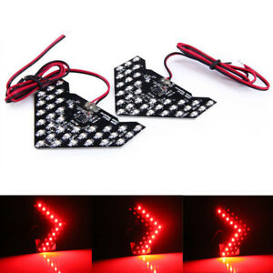 2x Super Red 33 Smd Sequential Led Arrows For Car Side Mirror Turn Signal Lights