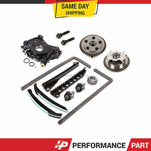 Timing Chain Kit Cam Phaser Oil Pump For 04 10 Ford F150 5 4 3 valve Triton