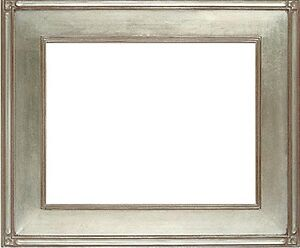 20 X 24 Arts Crafts Mission Style Picture Frame Hand Applied Silver Leaf